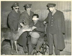 1945 Philadelphia Zoo LtR Joseph Lysak Alfred Therrien John Westmoreland Arthur Schultz