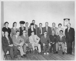 1946 BVA Convention Bot Ralph Graves Lloyd Greenwood Bobby Jones Bill Moke Robert Butler Top Betty Graves Kay Gruber Jones Mother Jim Kyle of VA Bill Mokes Wife