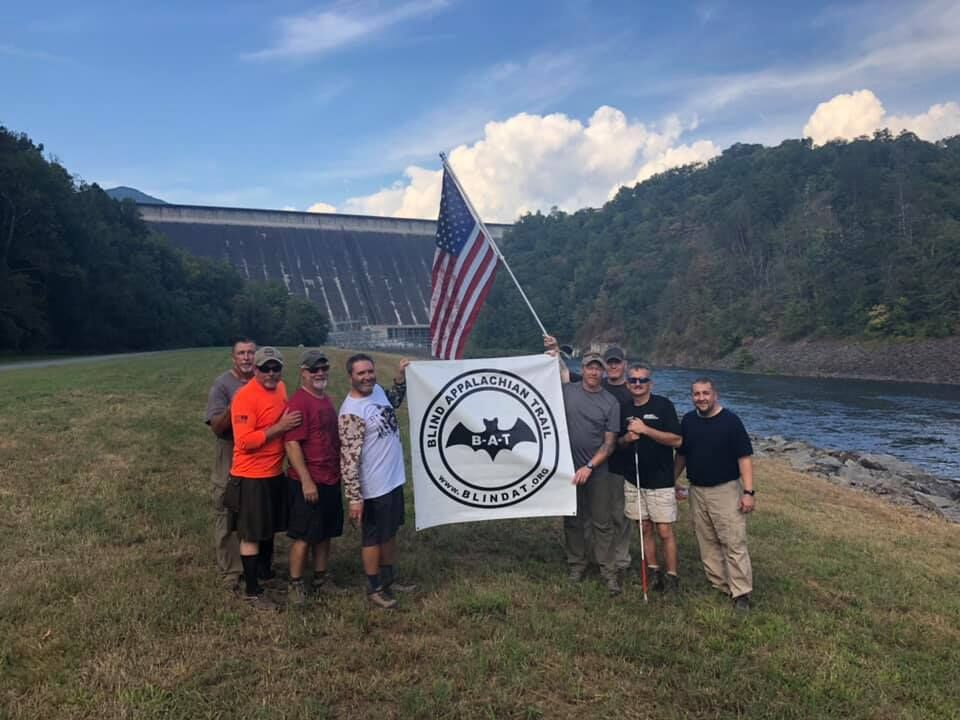 Appalachian Trail participants with vision loss celebrated the completion of 91 miles of hiking and camping in September 2019.