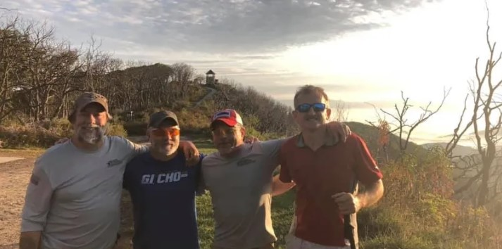 Four Members on the Appalachian Trail