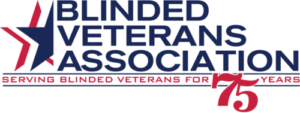 Blinded Veterans Association 75 Years Logo