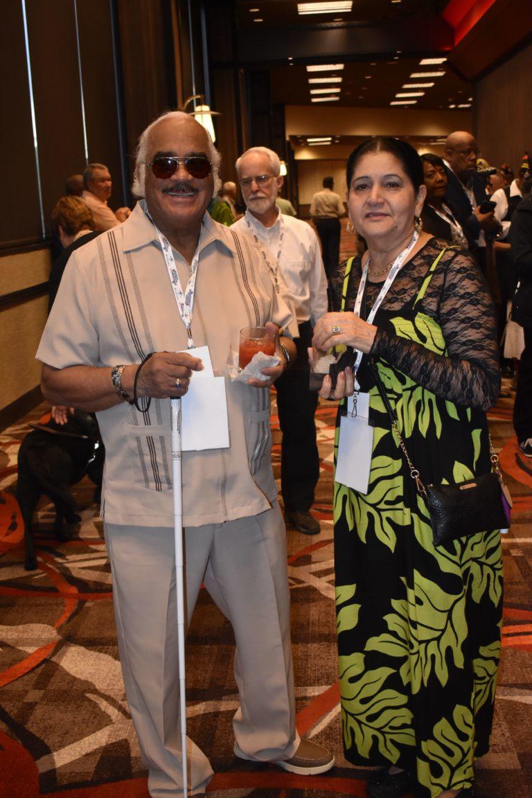 A photo of Enrique Sanchez with his wife