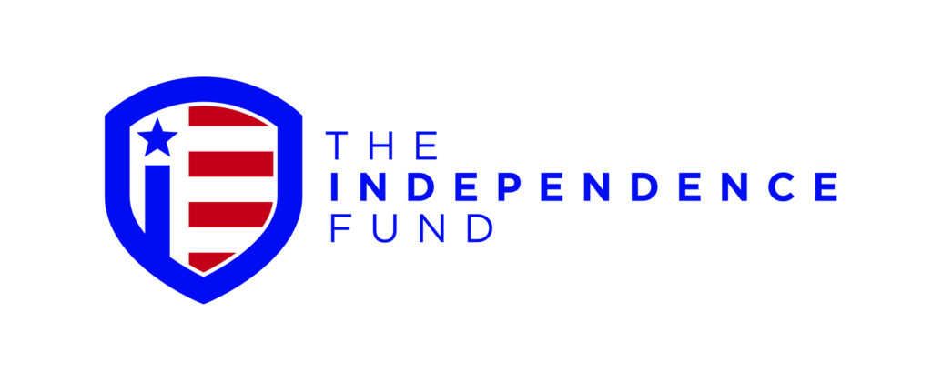 The Independence Fund Logo in Red, White & Blue